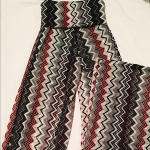 Tribal print flare pants